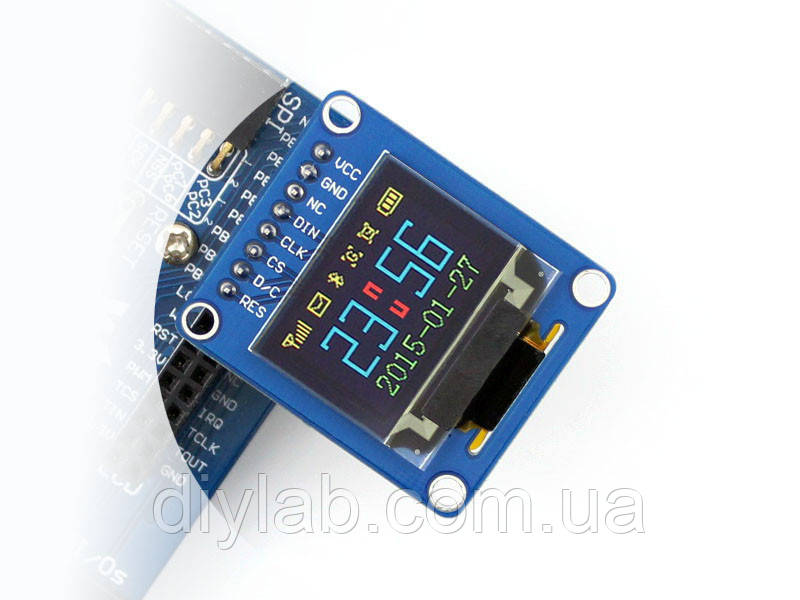 RGB OLED LCD 0.95'' 128x64 SPI SSD1331, фото 1