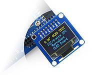 LCD OLED 0.96'' 128x64 SPI/I2C Yellow-Blue, фото 1