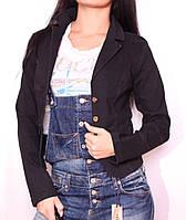 Модный женский черный пиджак