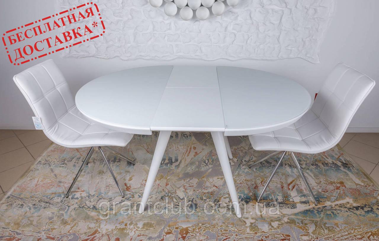 Обідній розсувний стіл AUSTIN (Остін) 110 см скло білий Nicolas (безкоштовна адресна доставка)