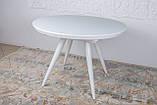 Обідній розсувний стіл AUSTIN (Остін) 110 см скло білий Nicolas (безкоштовна адресна доставка), фото 3