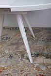 Обідній розсувний стіл AUSTIN (Остін) 110 см скло білий Nicolas (безкоштовна адресна доставка), фото 6