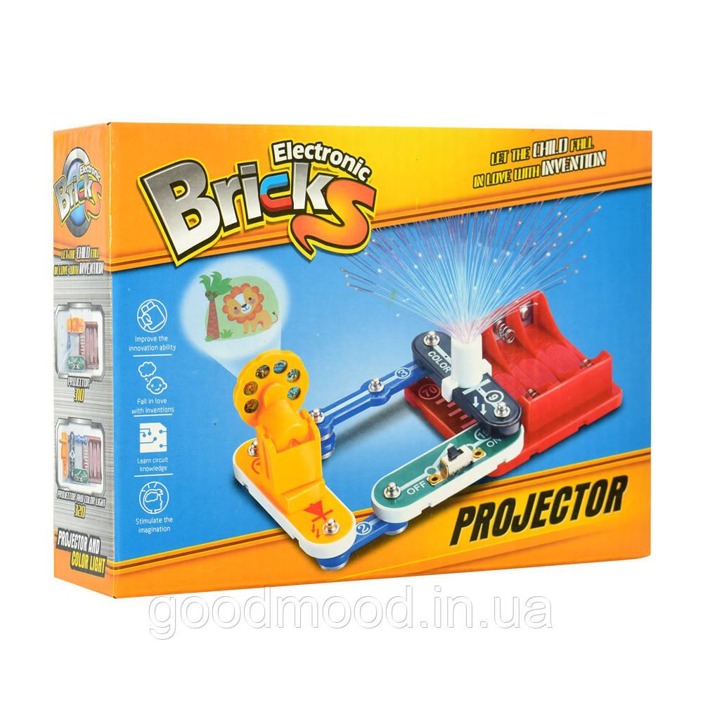 Конструктор 310 електронний, проектор, слайди, світло, бат., кор., 19-14-5 см.