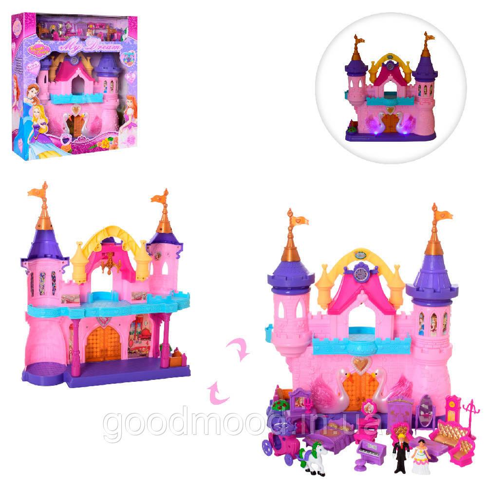 Замок SG-2974 меблі, фігурки 2 шт., муз., світло, бат., кор., 44-50-15 см.