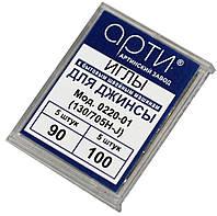 """Иглы швейные """"АРТИ"""" (№90/№100), для джинсы (10шт), к бытовым швейным машинам"""