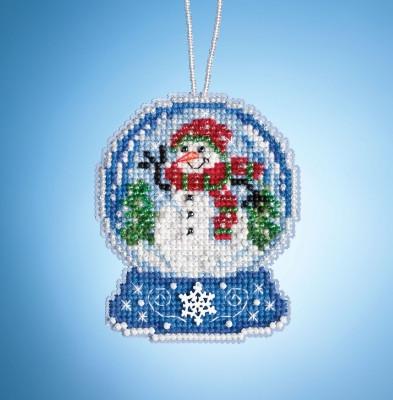 Набор для вышивания Mill Hill Snowman Globe MH161933