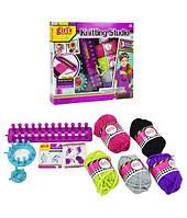 """Детский набор для Вязания """"Knitting Studio"""", 3 станка, крючок, иглы, нитки, MBK281"""