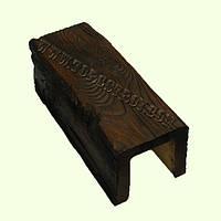 Балка потолочная декоративная полиуретановая, 12*12 см, темный рустик, Decowood