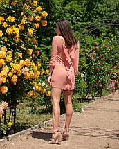"""Облегающее шифоновое мини-платье """"Amor"""" с бантом на спине (5 цветов), фото 2"""