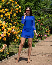 """Облегающее шифоновое мини-платье """"Amor"""" с бантом на спине (5 цветов), фото 3"""
