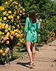"""Облегающее шифоновое мини-платье """"Amor"""" с бантом на спине (5 цветов), фото 4"""