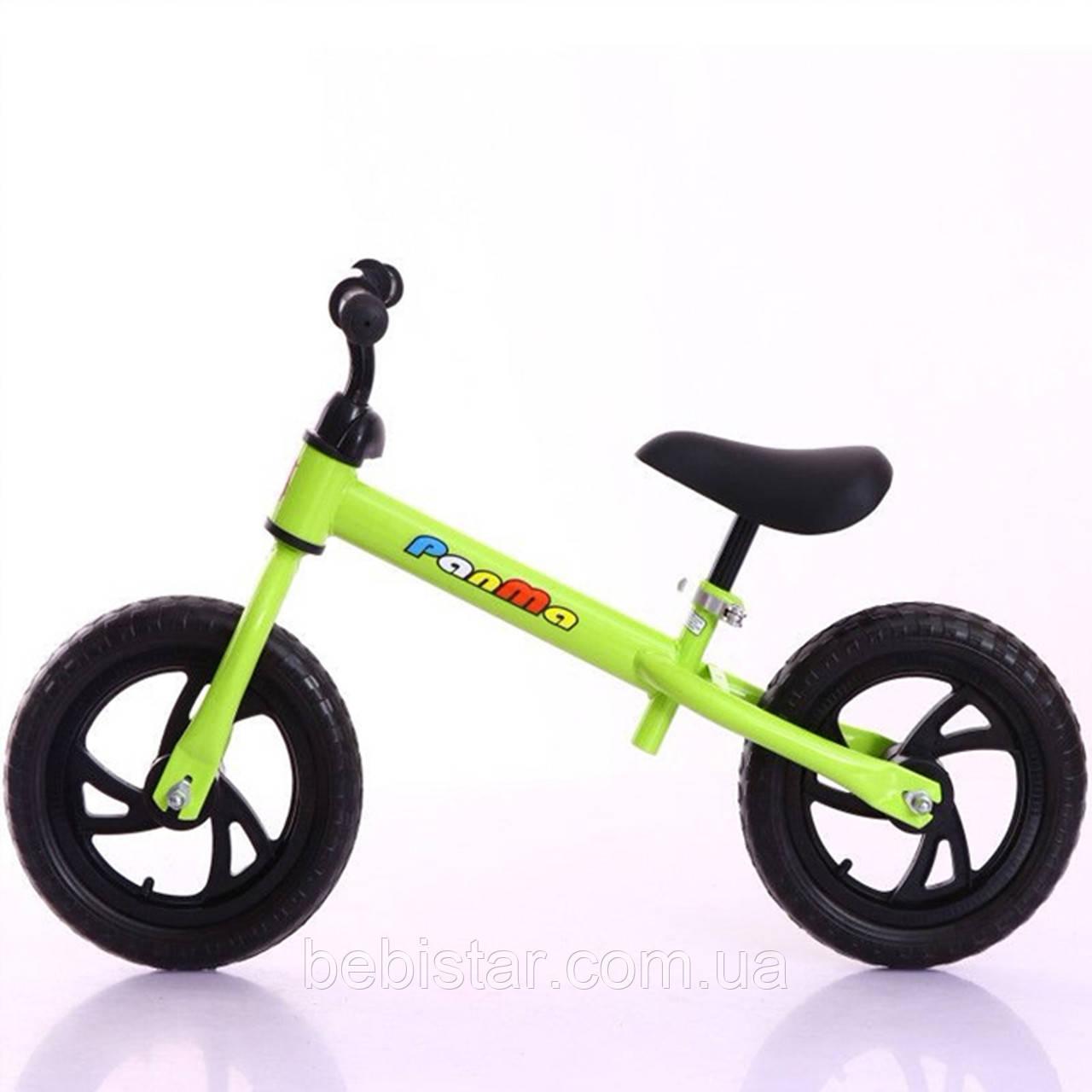 Беговел детский на EVA колесах зеленый TILLY 12 T-212513 Green EVA для деток 2-4 года