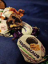 Цукерки АСОРТІ великі з горіхами та фруктами в кондитерському шоколаді 250 грам