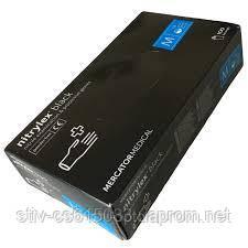 Перчатка  нитриловая  black 100 шт