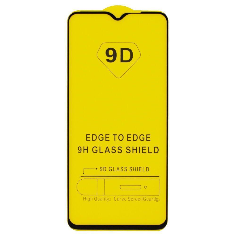Захисне скло 9D Xiaomi Redmi note 8 pro black (Чорне) повна проклейка