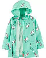 Детская качественная куртка дождевик с принтом Картерс для девочки