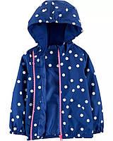 Детская качественная куртка ветровка с принтом Картерс для девочки