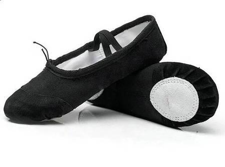 Черные чешки, балетки для танцев, хореографии и гимнастики, фото 2