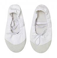 Білі балетки, чешки для танців дитячі та дорослі, фото 1