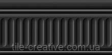 Керамическая плитка Бордюр Бланше черный структурированный 20х9,9х9,2 19049\3F