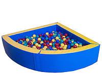Сухой бассейн угловой, разные размеры