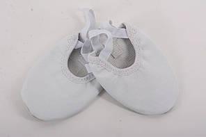 Кожаные белые получешки для танцев детские и взрослые  Rivage Line, фото 2