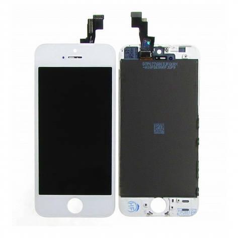 Дисплей (LCD) iPhone 5 с сенсором белый, фото 2