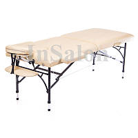 Двухсекционный алюминиевый складной стол DIPLOMAT светло-бежевый (NEW TEC)