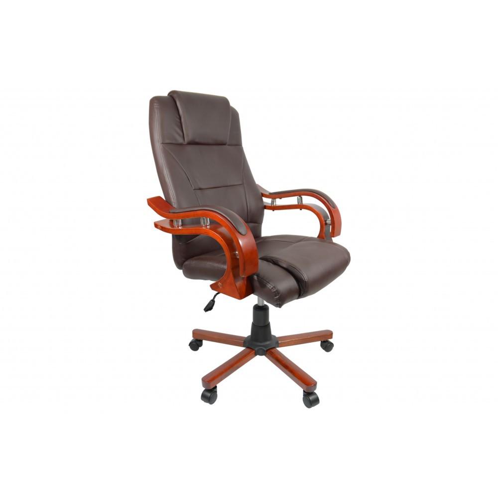 Кресло офисное для руководителя Bonro Premier (коричневое)