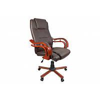 Кресло офисное для руководителя Bonro Premier (коричневое), фото 1