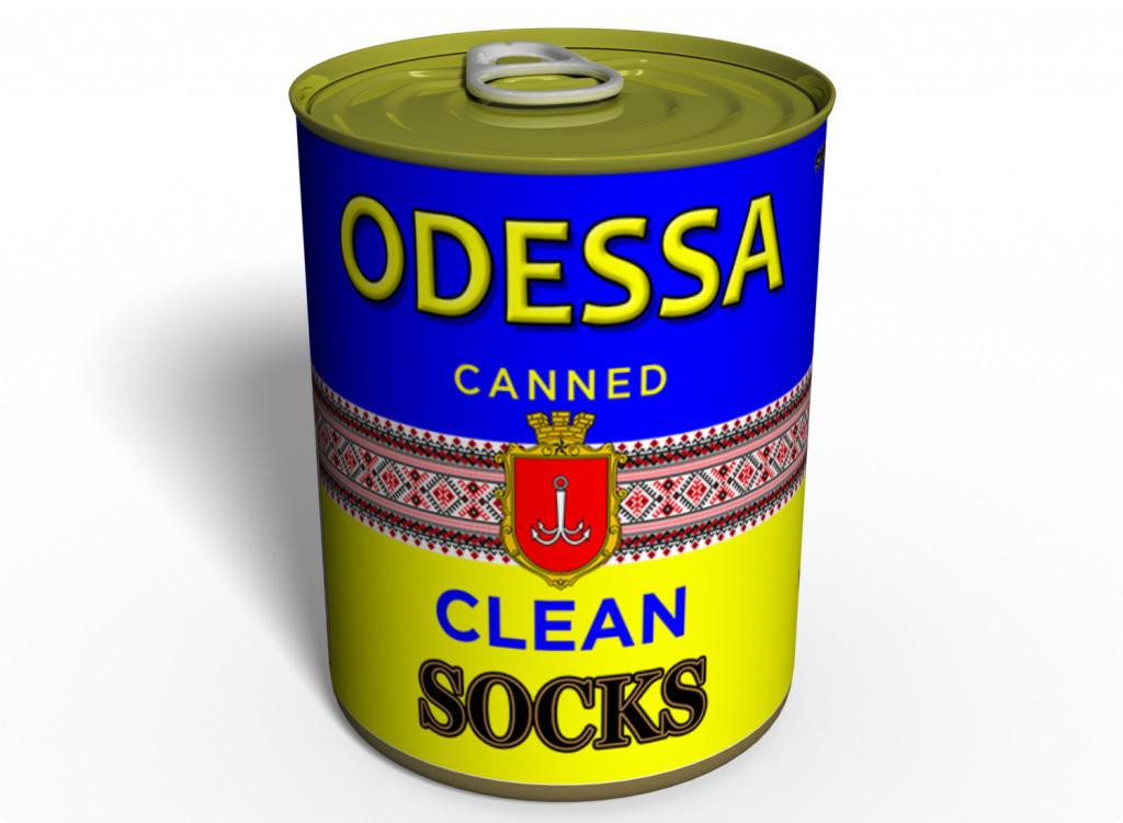 Canned Clean Socks Socks Ukraine - Оригинальный Подарок Из Одессы - Морские Сувениры