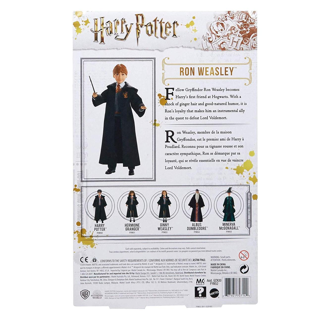 MISC ~ BARBIE DOLL 2018 HARRY POTTER CHAMBER OF SECRET RON WEASLEY MAGIC WAND