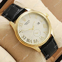 Часы мужские наручные Rolex Geneve Black/Gold/White