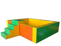 Сухой бассейн с горкой Квадрат  (200х200х60/20)