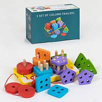 Деревянная игрушка Геометрия C 39368 в коробке