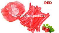 Шапочка одноразовая (100 шт/уп) красная нетканая (спанбонд) на резинке Polix PRO&MED