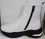 Ботинки женские белые демисезонные кожаные от производителя модель БМ1112, фото 3