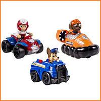 """Набор игрушек """"Три щенка спасателя на автомобилях"""" Щенячий патруль / Paw Patrol Spin Master"""