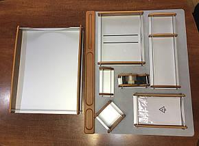 Настольный набор BESTAR 8164 орех 8164HDX дерево с металлом, фото 2