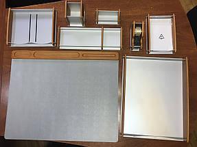 Настольный набор BESTAR 8164 орех 8164HDX дерево с металлом, фото 3