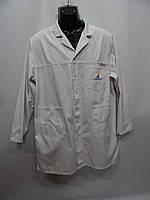 Мужской медицинский белый халат Planam р.52 008HMR