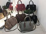 Красивая женская сумочка Натуральная замша и эко кожа В наличии 6 цветов, фото 3
