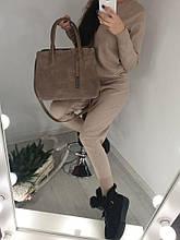Красива жіноча сумочка Натуральна замша і еко шкіра В наявності 6 кольорів