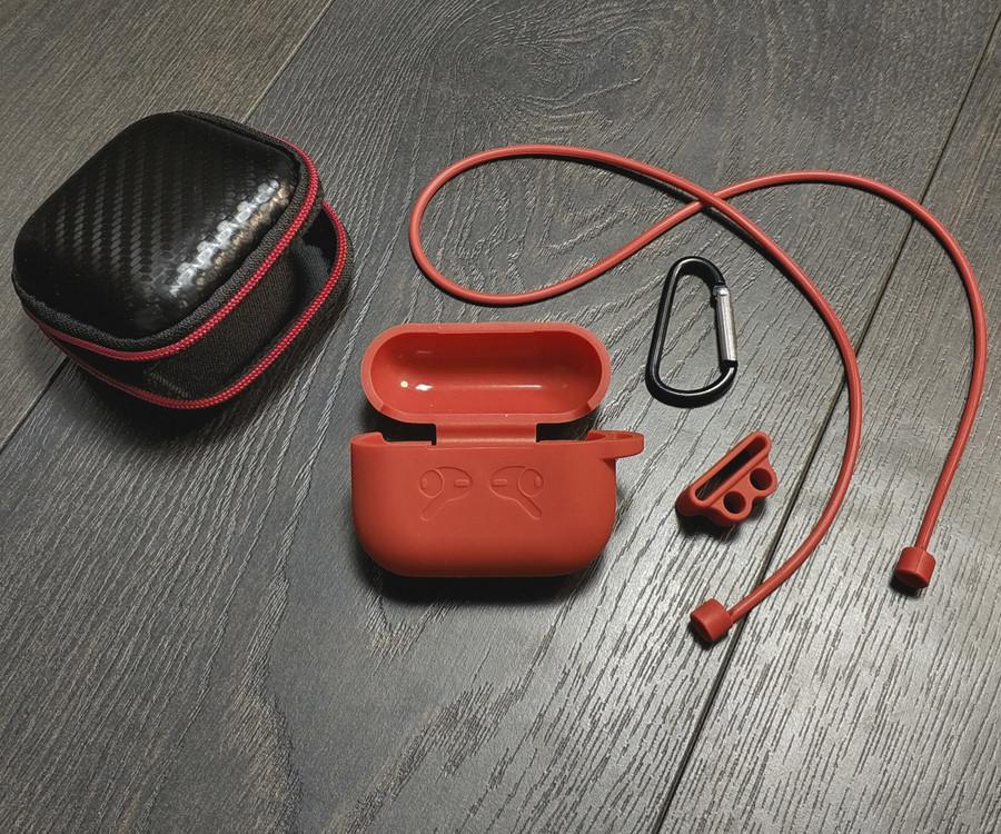 Силиконовый чехол для AirPods PRO, пять в одном. Красный