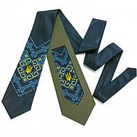 Мужской галстук с украинской патриотической вышивкой