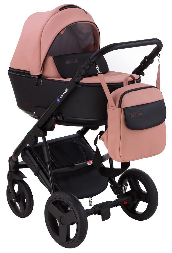 Детская коляска универсальная 2 в 1 Bair Mirello кожа 100% M-02/30 (Беир Мирелло)