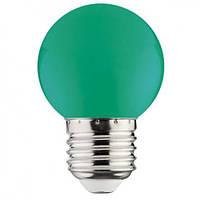 Зеленая светодиодная лампа 1W E27 Horoz RAINBOW