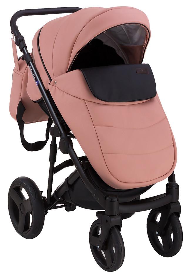 Детская коляска универсальная 2 в 1 Bair Leo кожа 100% G-9 (Беир Лео)