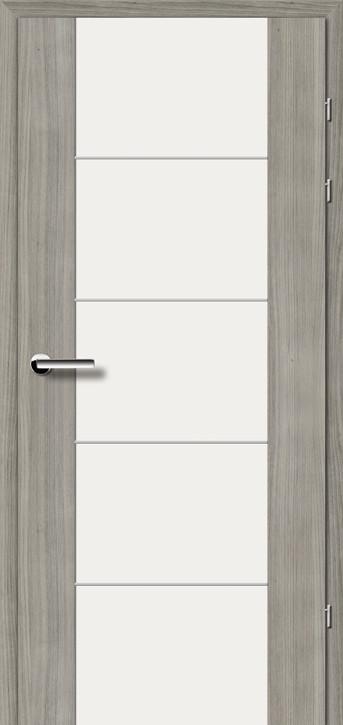 """Межкомнатные двери Брама 17.3 М белое стекло серия """"Тренд"""""""