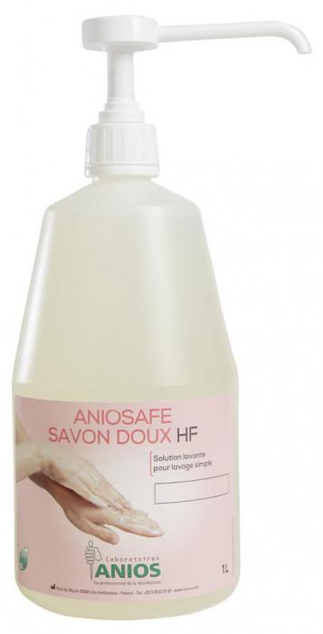 Аниосейф савон ду ХФ (ANIOS Aniosafe savon doux HF) - жидкое мыло для рук и кожи, флакон Airless, 1 л